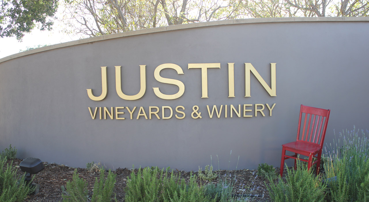 Red Chair Travels at JUSTIN Vineyardsa and Winery
