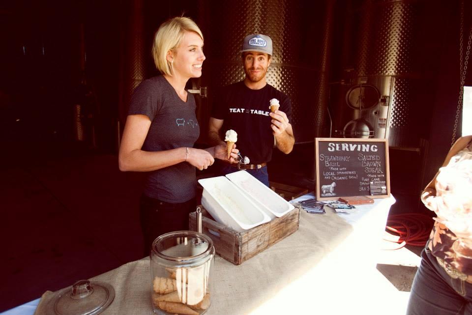 Ice Cream Taste Testing at Justine Winery Gala