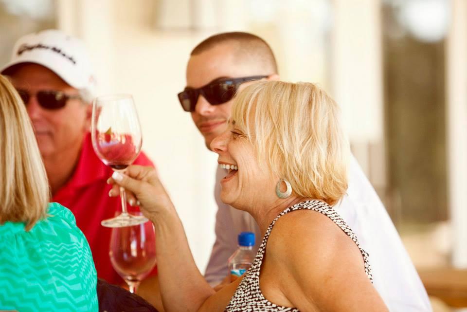 Toasting at Justin Winery and Vineyard Gala