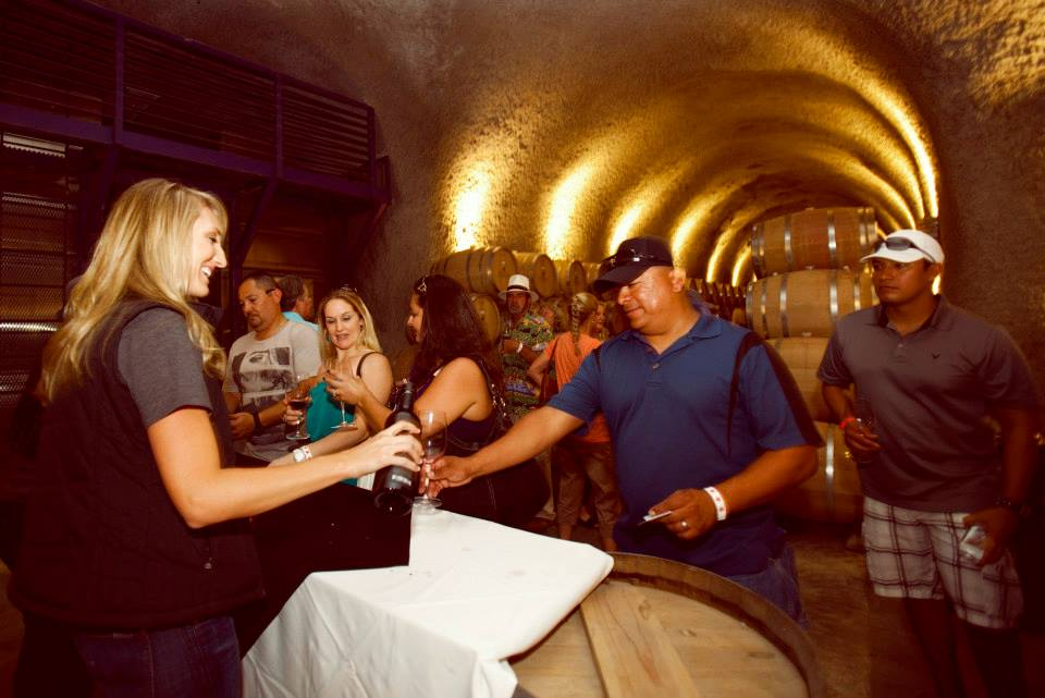 Pouring Wineat  Justin Vineyards and Winery Gala